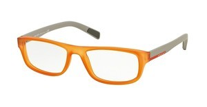 Prada Sport PS 06GV UFL1O1 TRANSPRENT ORANGE RUBBER
