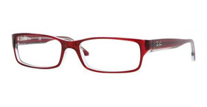 Ray-Ban RX5114 5112 DARK RED ON TRASPARENT