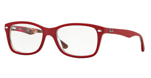 Ray-Ban RX5228 5406 TOP MATTE RED ON TEXT CAMUFLAG