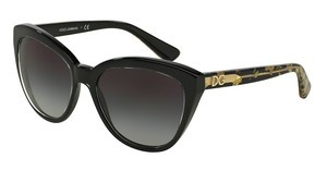 Dolce & Gabbana DG4250 29178G GREY GRADIENTCRYSTAL ON BLACK