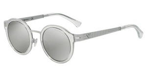 Emporio Armani EA2029 31076G LIGHT GREY MIRROR SILVERMATTE WHITE