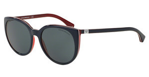 Emporio Armani EA4043 535287 GREYBLUE/WHITE LINE/RED