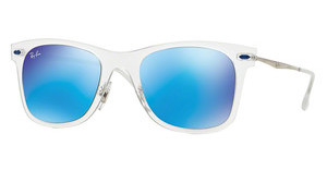 Ray-Ban RB4210 646/55 GREEN MIRROR BLUEMATTE TRANSPARENT