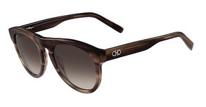 Salvatore Ferragamo SF828S 216 STRIPED BROWN