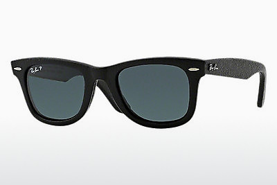 サングラス Ray-Ban WAYFARER LEATHER (RB2140QM 1152N5) - ブラック
