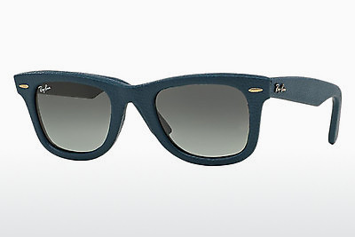 サングラス Ray-Ban WAYFARER LEATHER (RB2140QM 116871) - ブルー