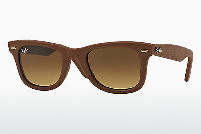 サングラス Ray-Ban WAYFARER LEATHER (RB2140QM 116985) - ブラウン