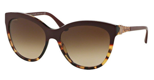Bvlgari BV8158 537013 BROWN GRADIENTTOP BORDEAUX ON HAVANA