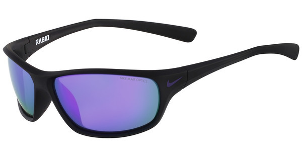 Nike RABID R EV0795 056 MATTE BLACK/ELECTRIC PURPLE WITH GREY W/ML VIOLET FLASH LENS LENS