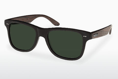 サングラス Wood Fellas Lehel (10757 rosewood/black/green)